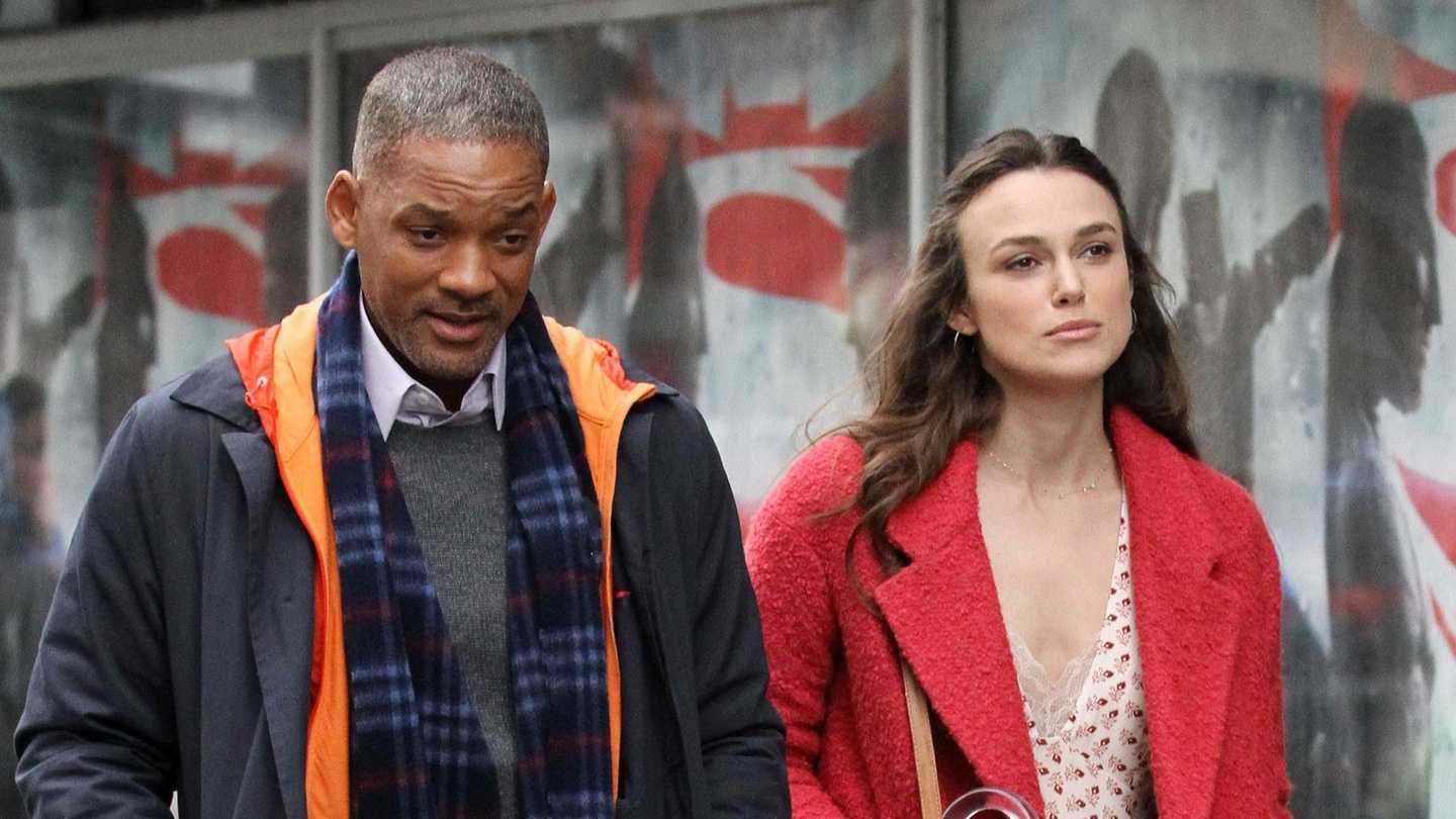 A grief-stricken Will Smith with Keira Knightley as Claire