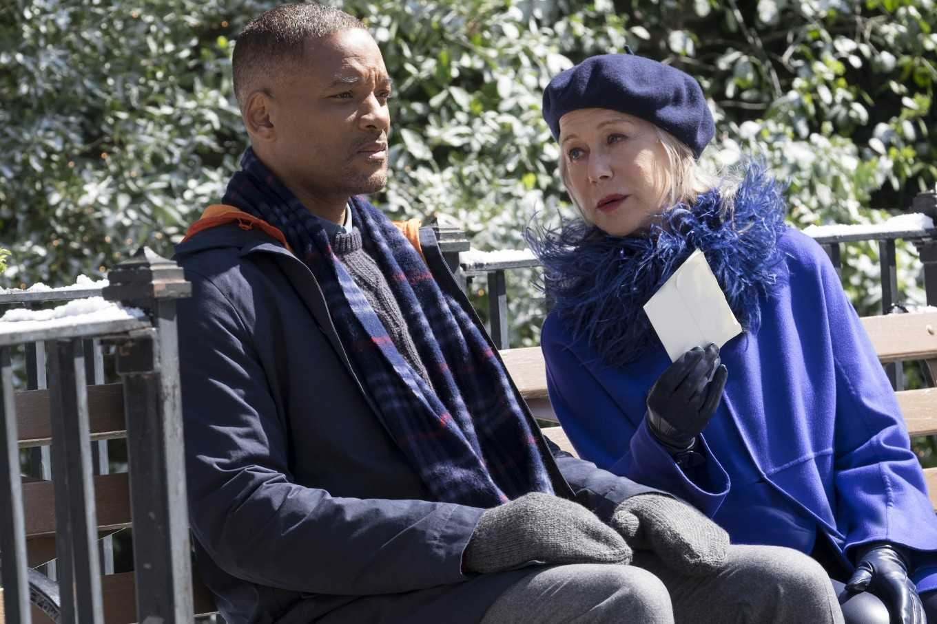 Will Smith with Helen Mirren as Brigitte in Collateral Beauty (2016)