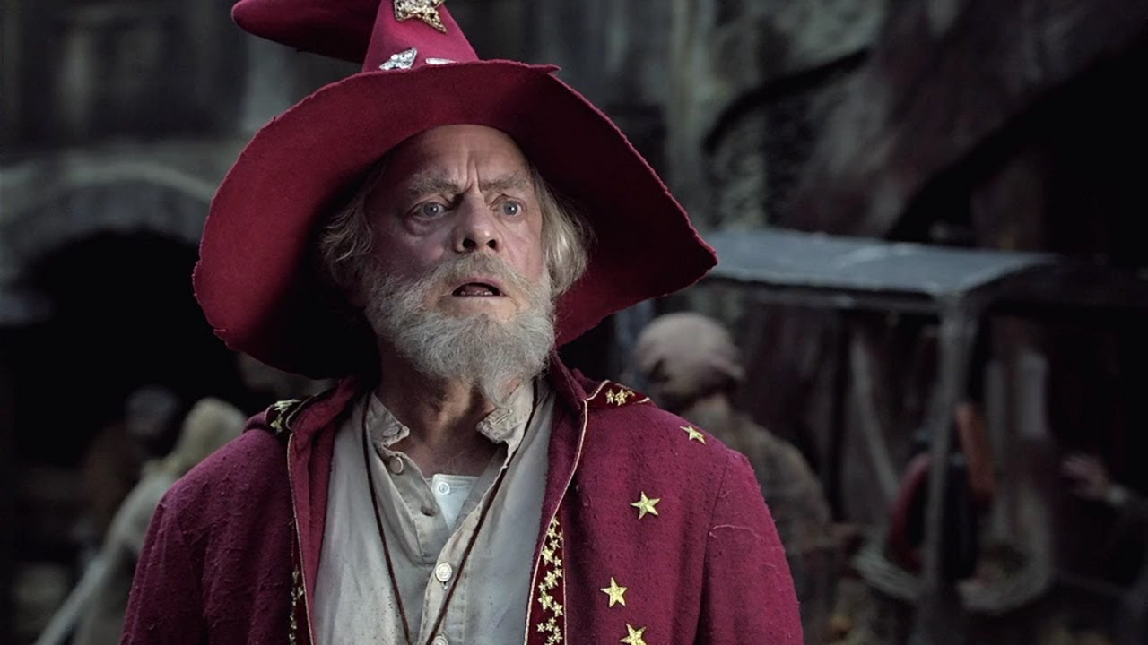 David Jason as the wizard Rincewind in The Colour of Magic (2008)