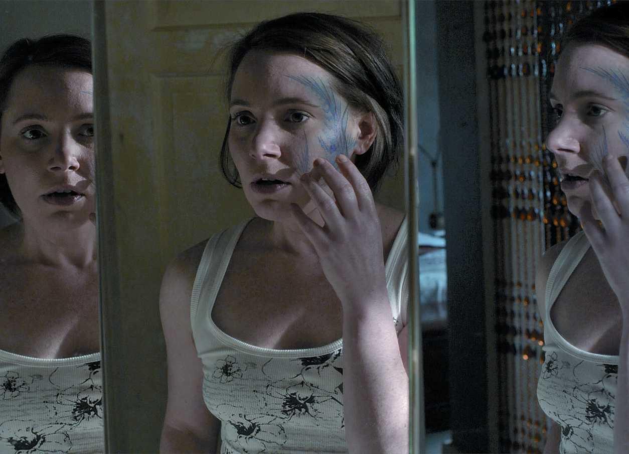 Victoria Bidewell and tattoo in Comforting Skin (2011)