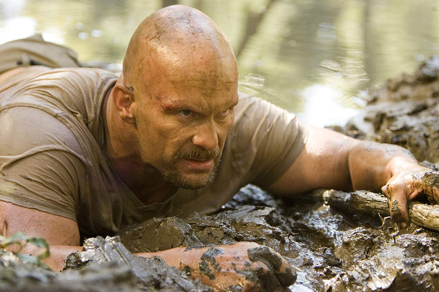 Steve Austin - an action hero with zero charisma - in The Condemned (2007)