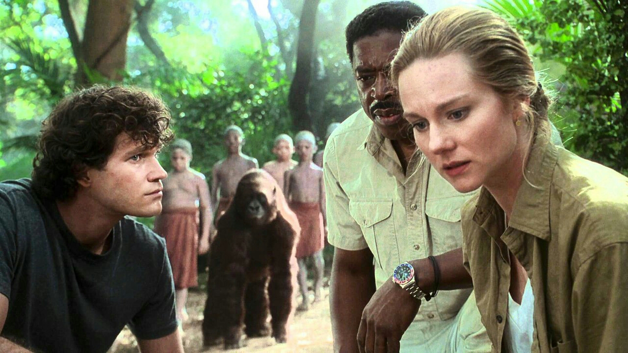 Dylan Walsh, Ernie Hudson and Laura Linney in Congo (1995)