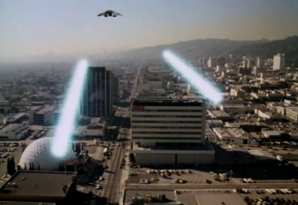 Cylons attack L.A. in Conquest of the Earth (1981)