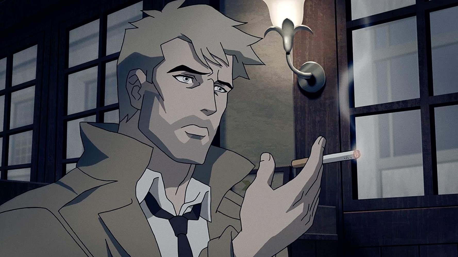 The animated John Constantine in Constantine: City of Demons (2018)