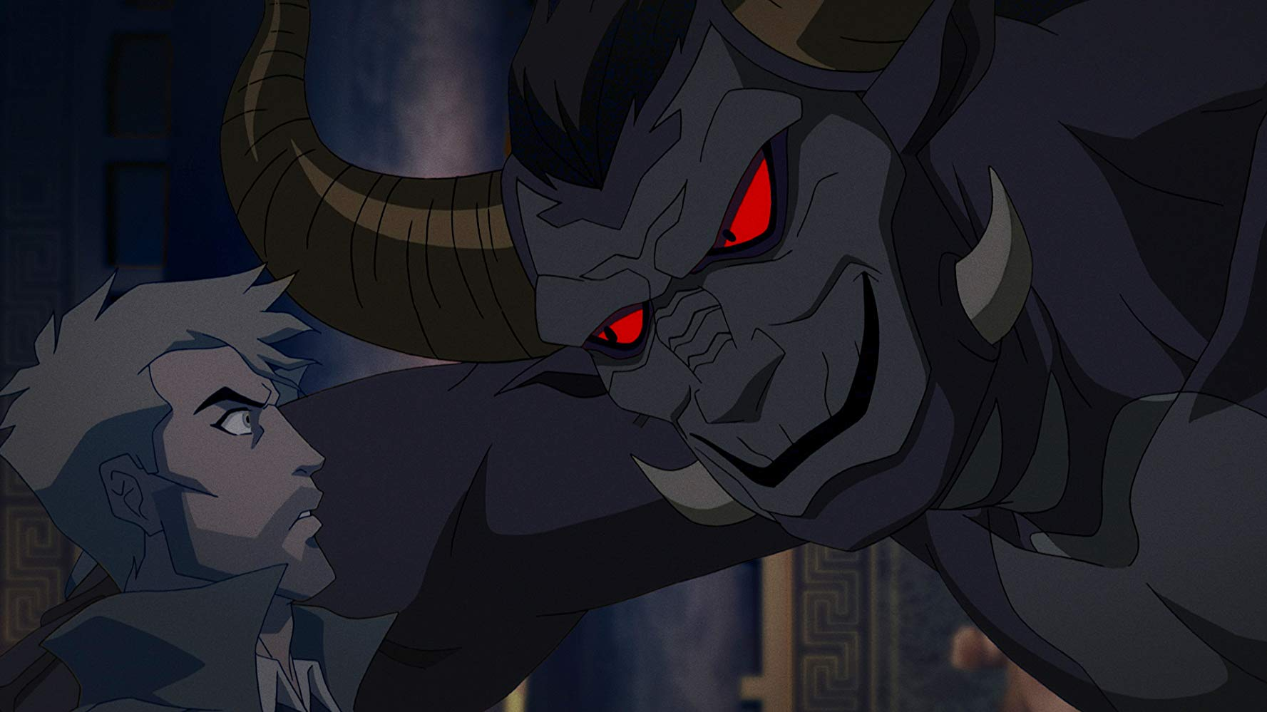 Constantine faces the demon Beroul in Constantine: City of Demons (2018)