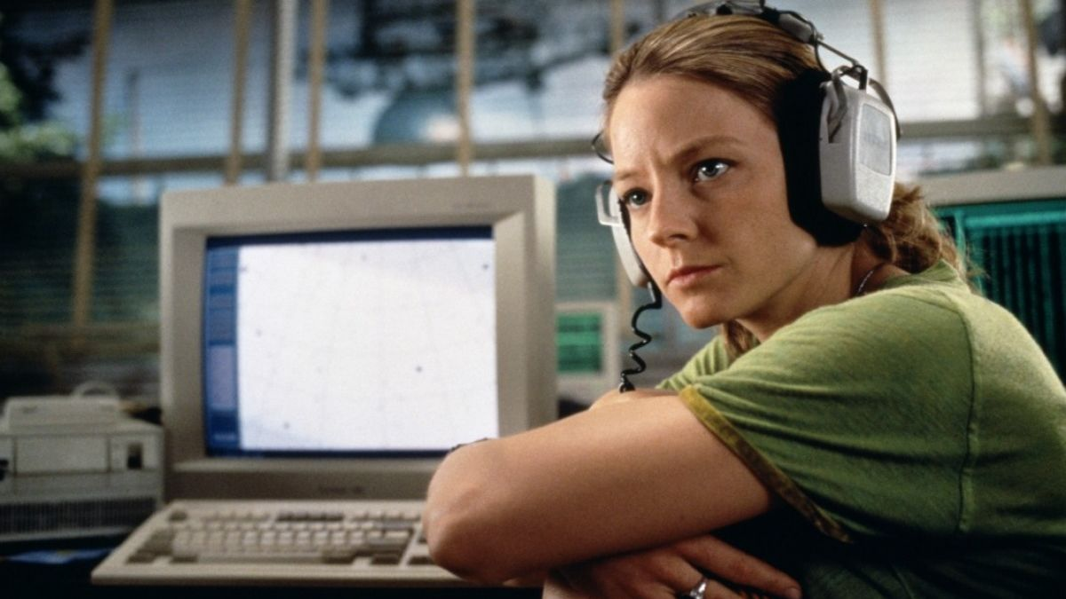 Jodie Foster as radio astronomer Ellie Arroway in Contact (1997)