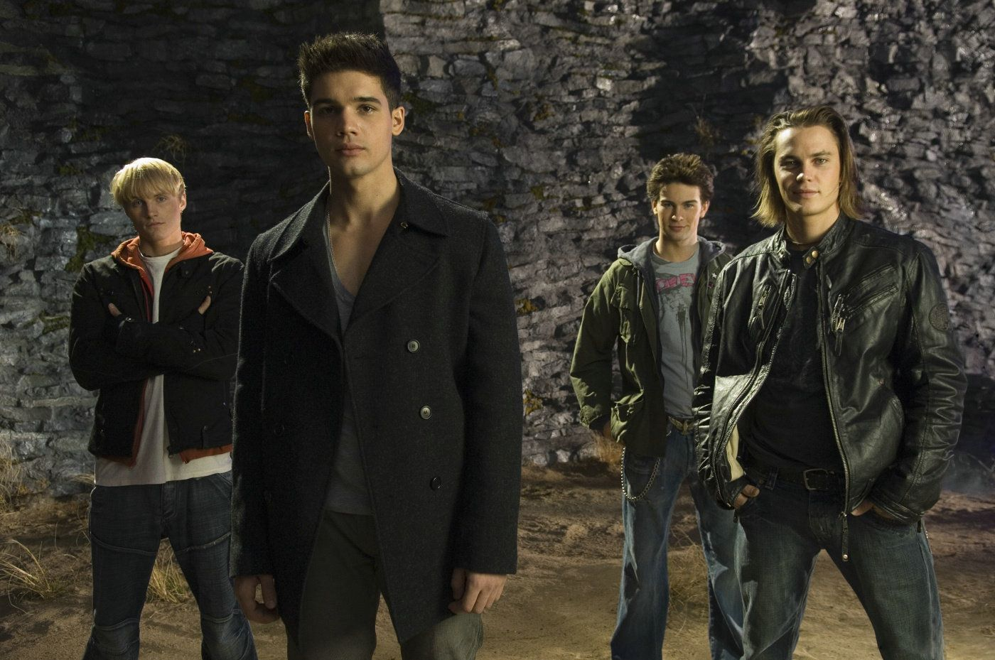 The Sons of Ipswich - (l to r) Toby Hemingway, Steve Strait, Chace Crawford and Taylor Kitsch in The Covenant (2006)
