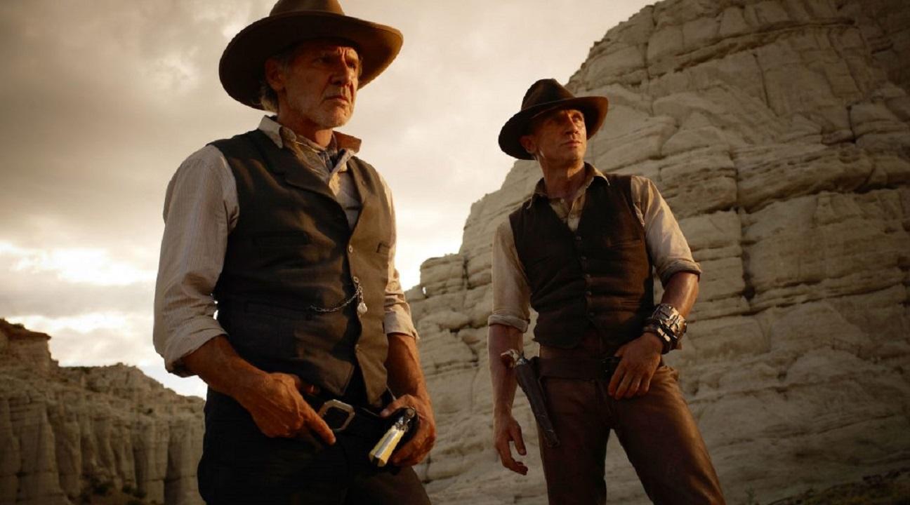 Harrison Ford, Daniel Craig in Cowboys & Aliens (2011)