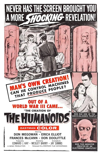 The Creation of the Humanoids (1962) poster