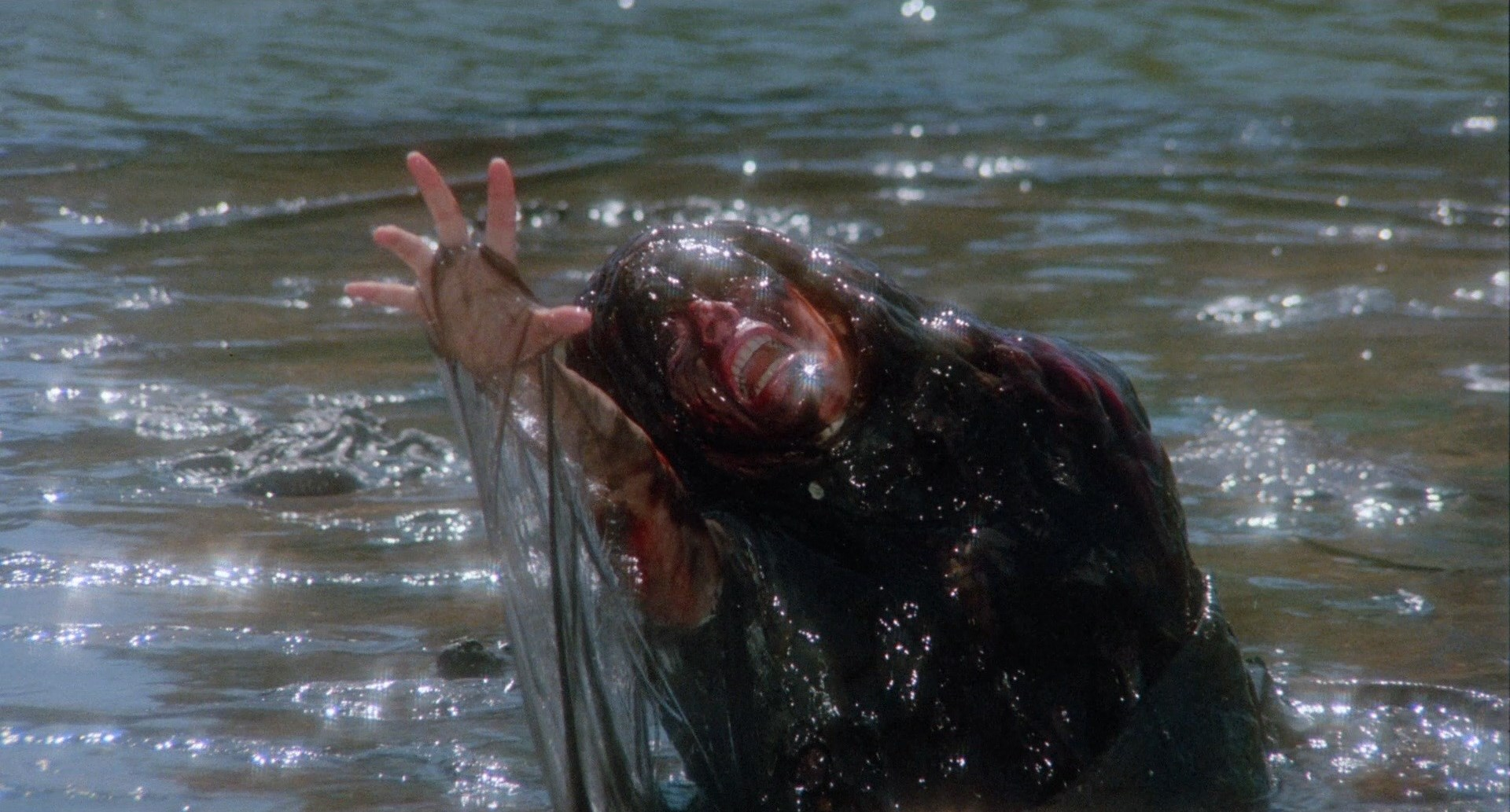 A victim of the creature in the lake in The Raft episode of Creepshow II (1987)