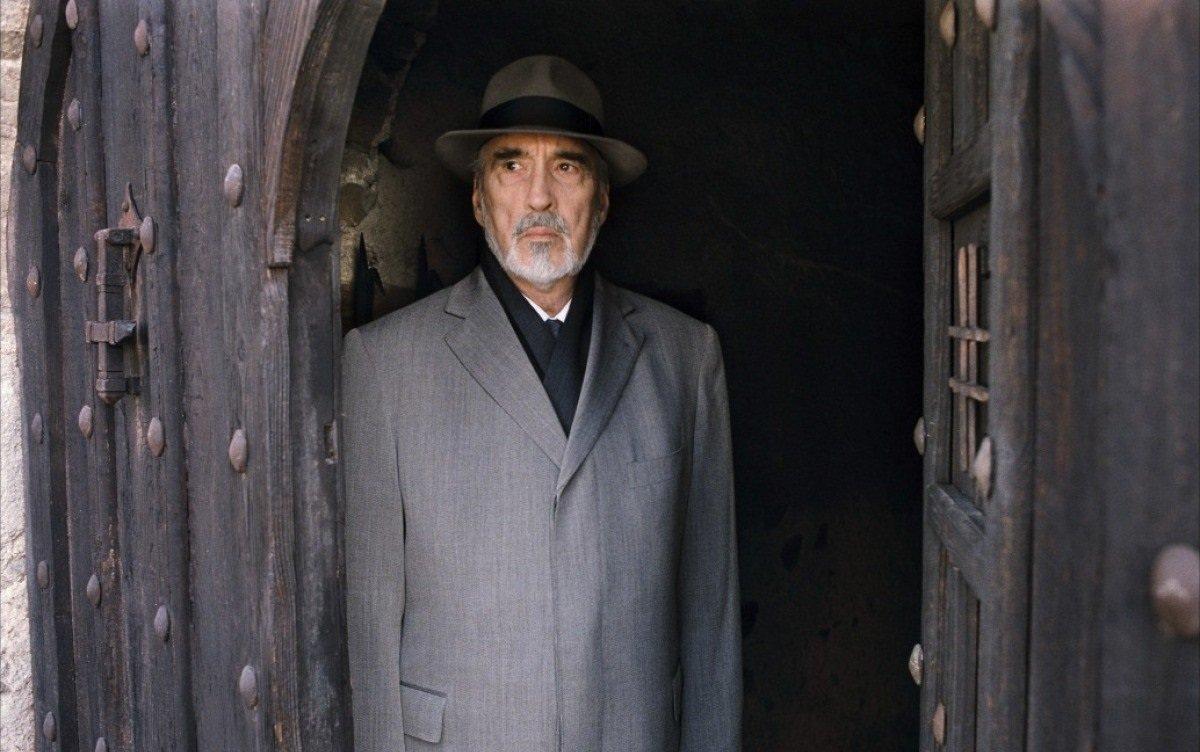An 81 year old Christopher Lee as Heinrich von Garten in Crimson Rivers II: Angels of the Apocalypse (2003)