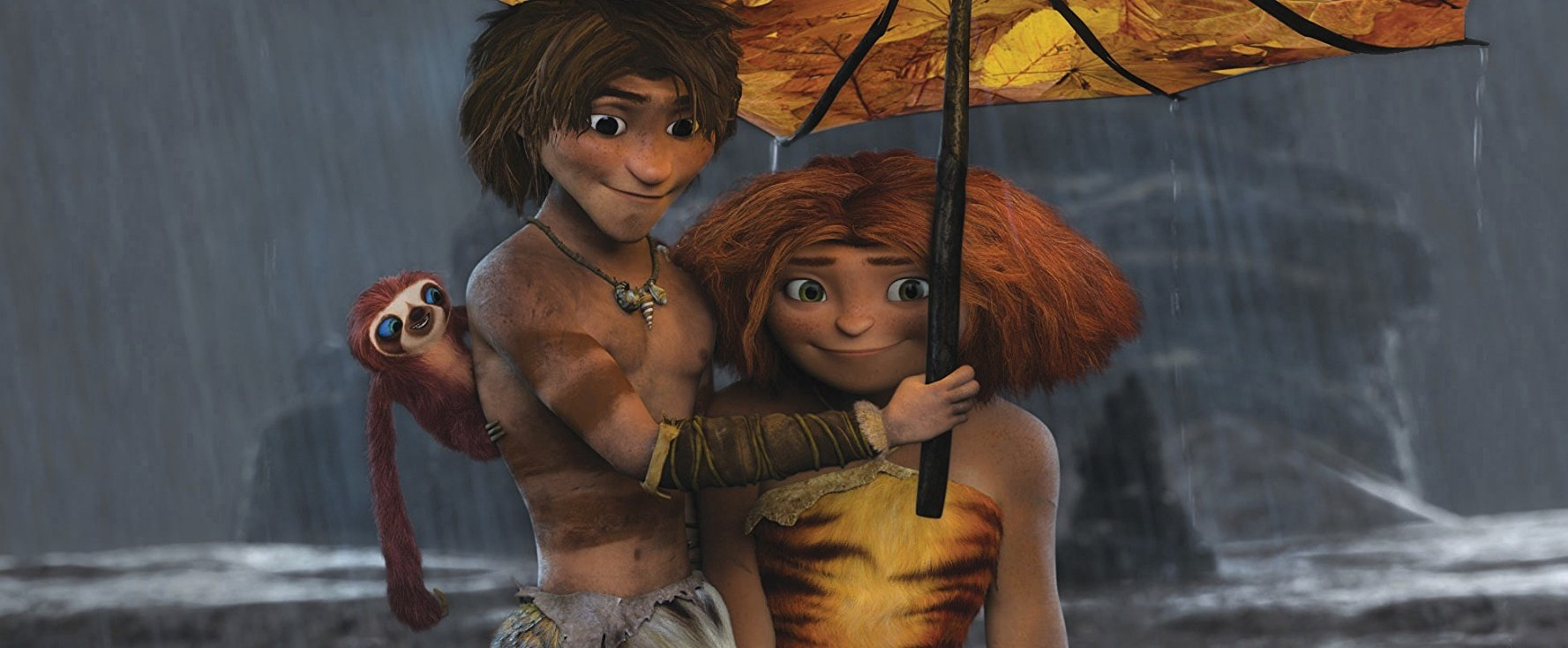 Guy and Eep in The Croods (2013)