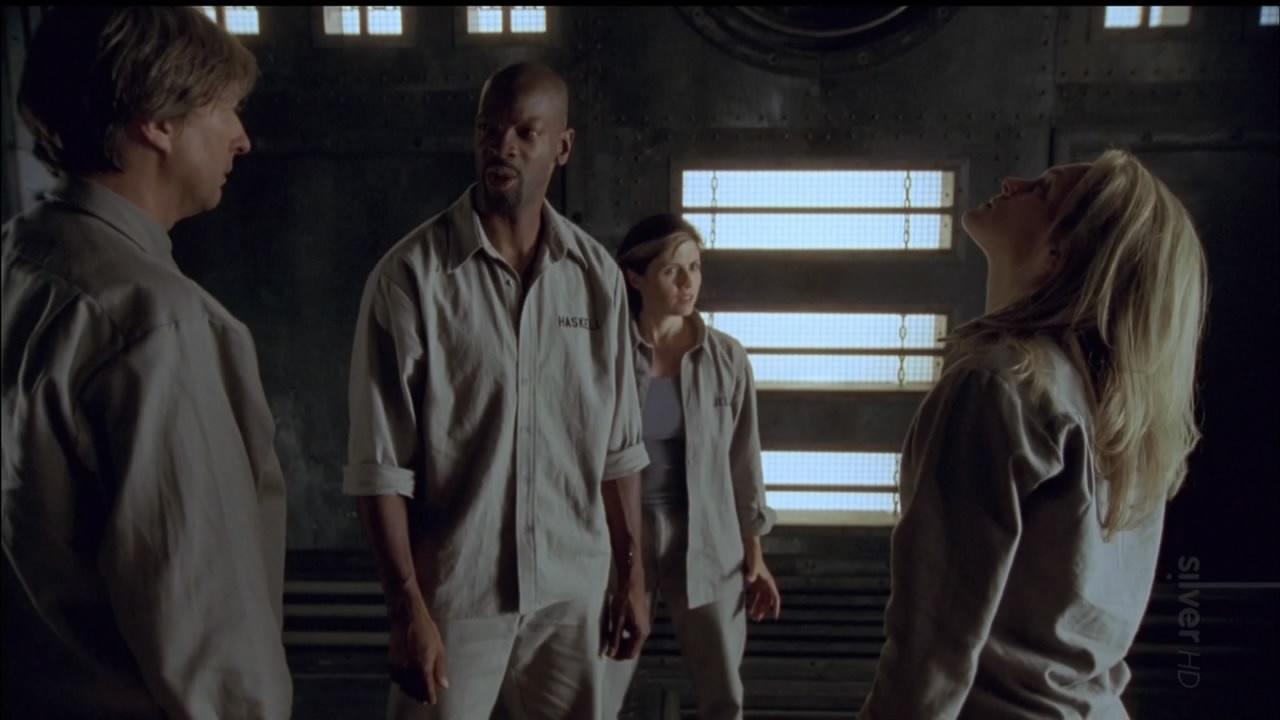 A new group inside the cube - (l to r) Richard McMillan, Martin Roach, Terri Hawkes and Stephanie Moore in Cube Zero (2004)