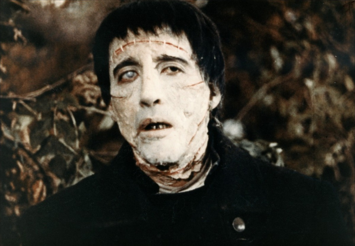 Christopher Lee as the new Frankenstein monster in The Curse of Frankenstein (1957)