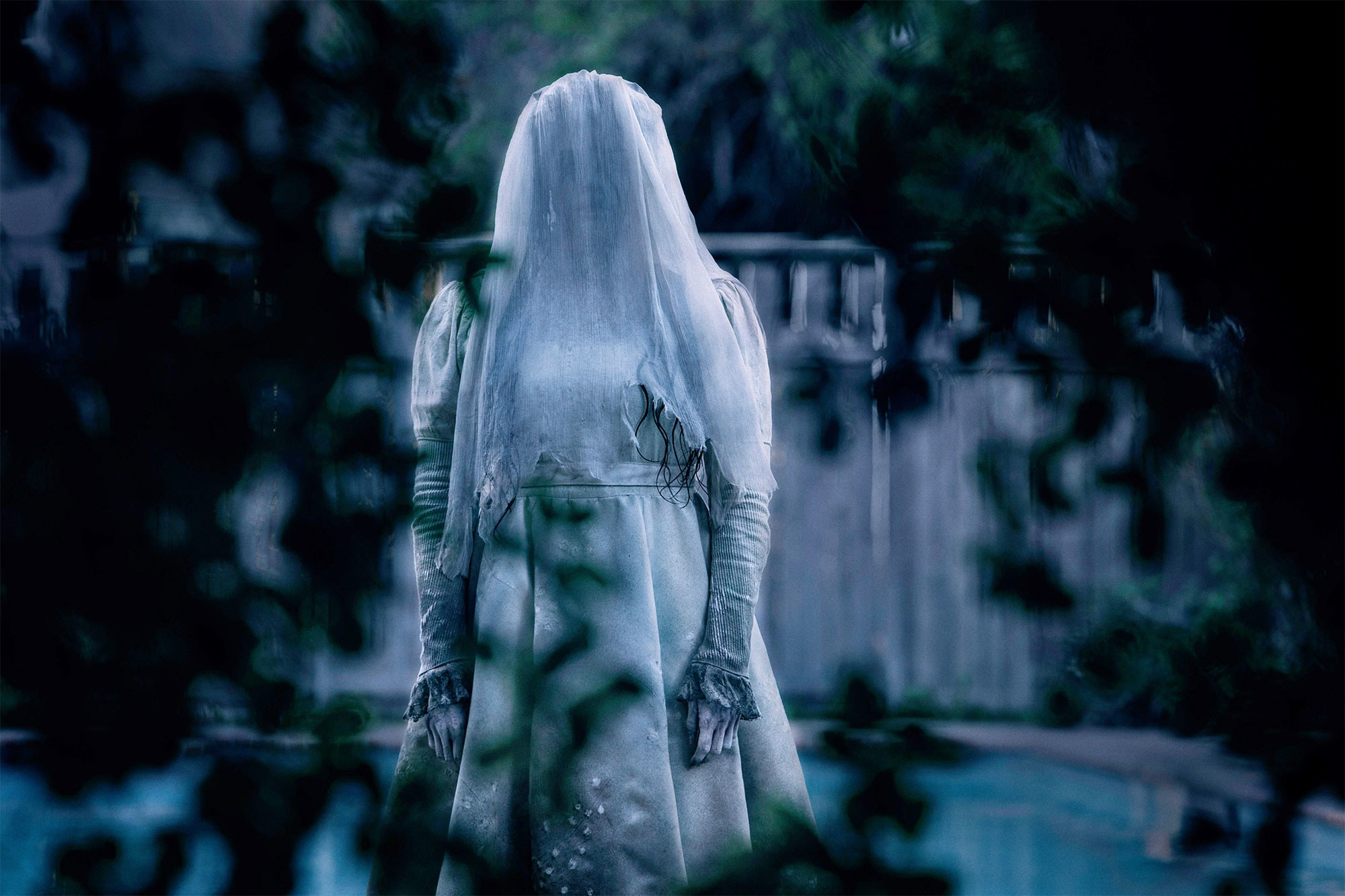 Marisol Ramirez as La Llorona the Mexican folklore figure of the crying woman in The Curse of La Llorona (2019)