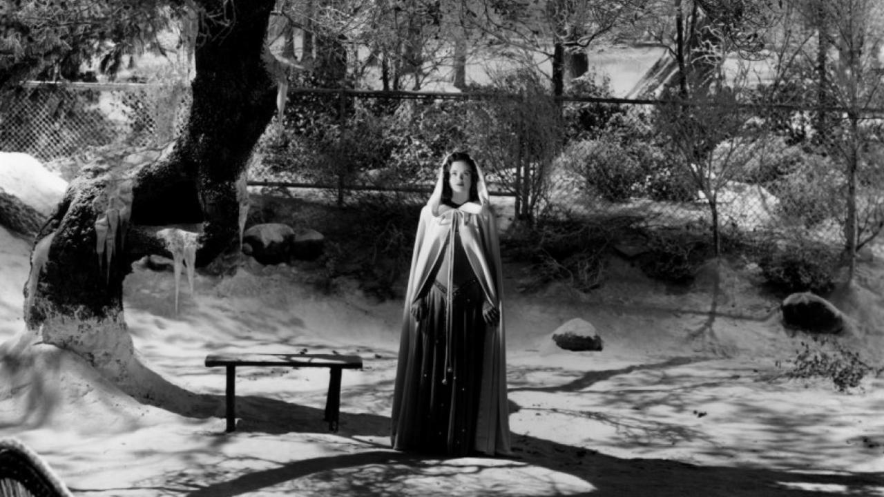 The ghost of Irena (Simone Simon) in The Curse of the Cat People (1944)