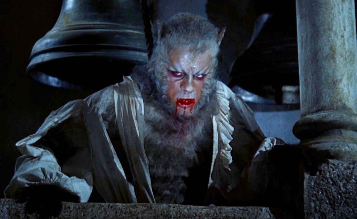 Leon (Oliver Reed) as the werewolf in The Curse of the Werewolf (1961)
