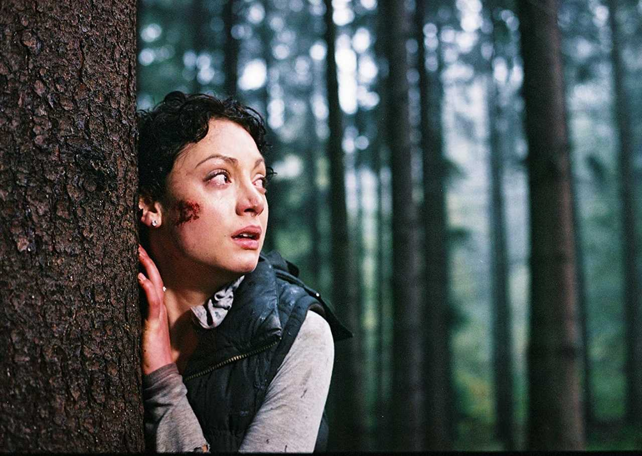 Leah Gibson hunted through the woods in The Cycle (2009)