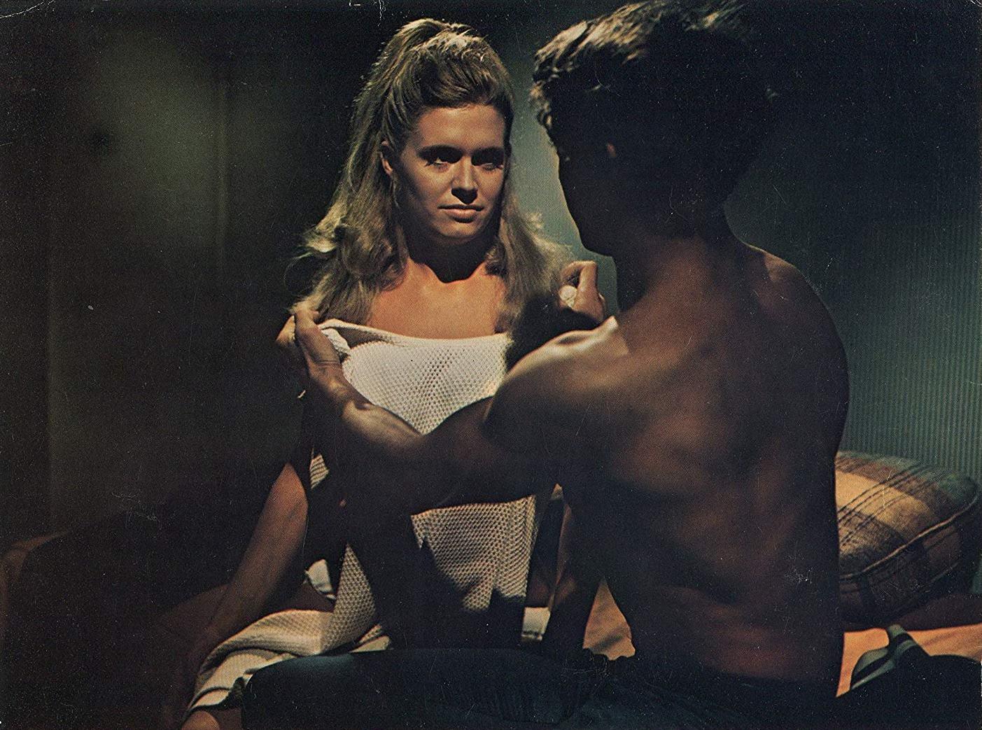 Carol White with her psychopathic boyfriend  Scott Hylands in Daddy's Gone A-Hunting (1969)