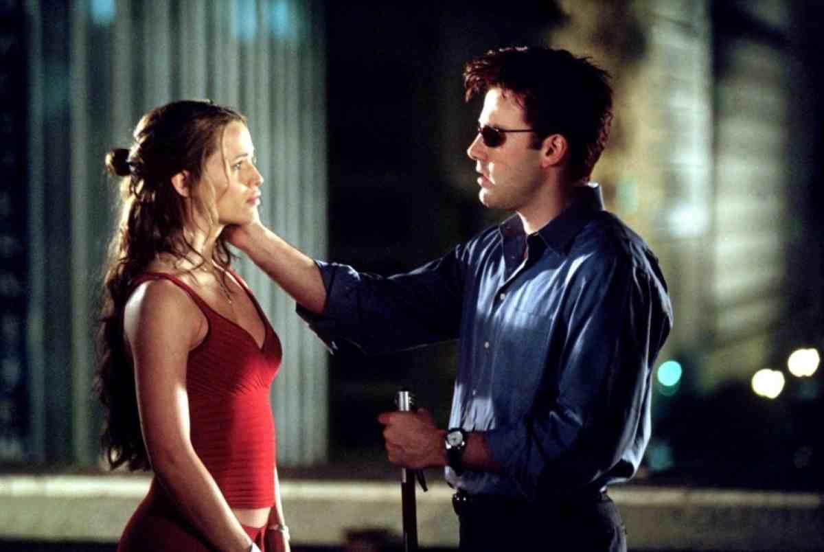 Matt Murdock (Ben Affleck) and Elektra (Jennifer Garner) in Daredevil (2003)