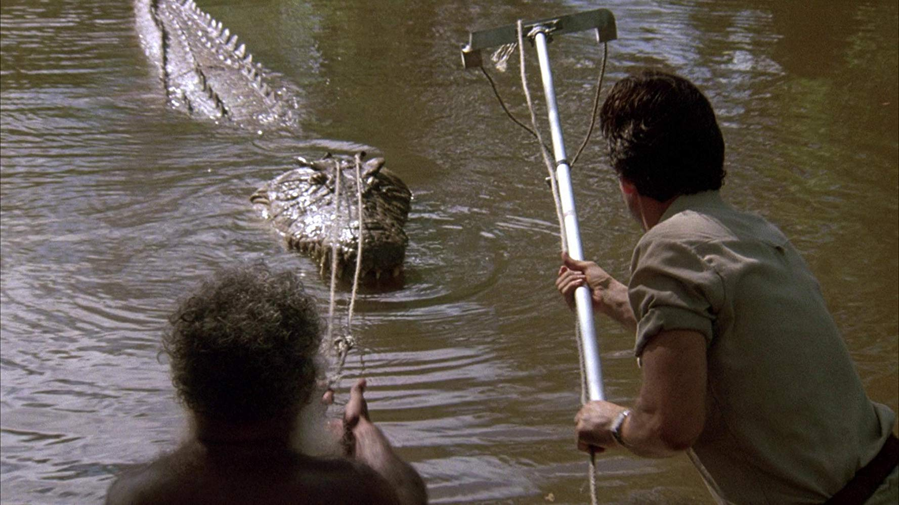 The attempts to capture the crocodile in Dark Age (1987)