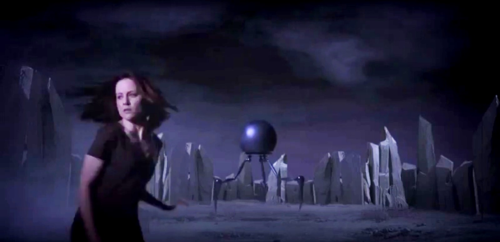 Ashley Galloway finds herself in another dimension facing alien machines in The Dark Sleep (2013)