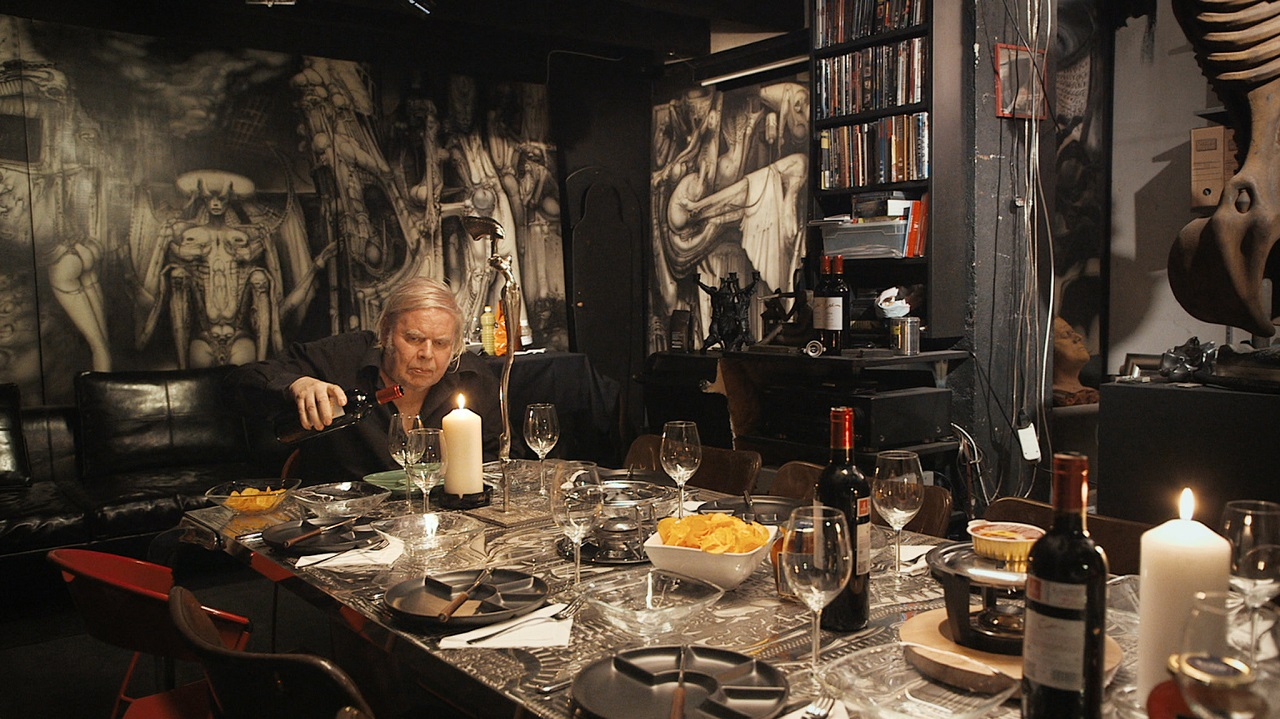 H.R. Giger in his home surrounded by his artwork in Dark Star: H.R. Giger's World (2014)