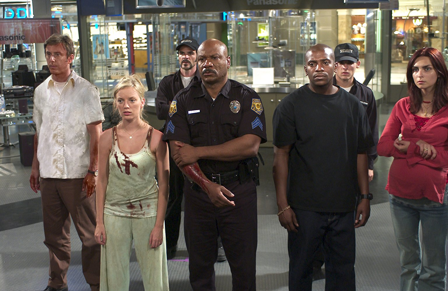 Jake Weber, Sarah Polley, Michael Kelly, Ving Rhames, Mekhi Fifer, Ty Burrell, Inna Korobkina in Dawn of the Dead (2004)
