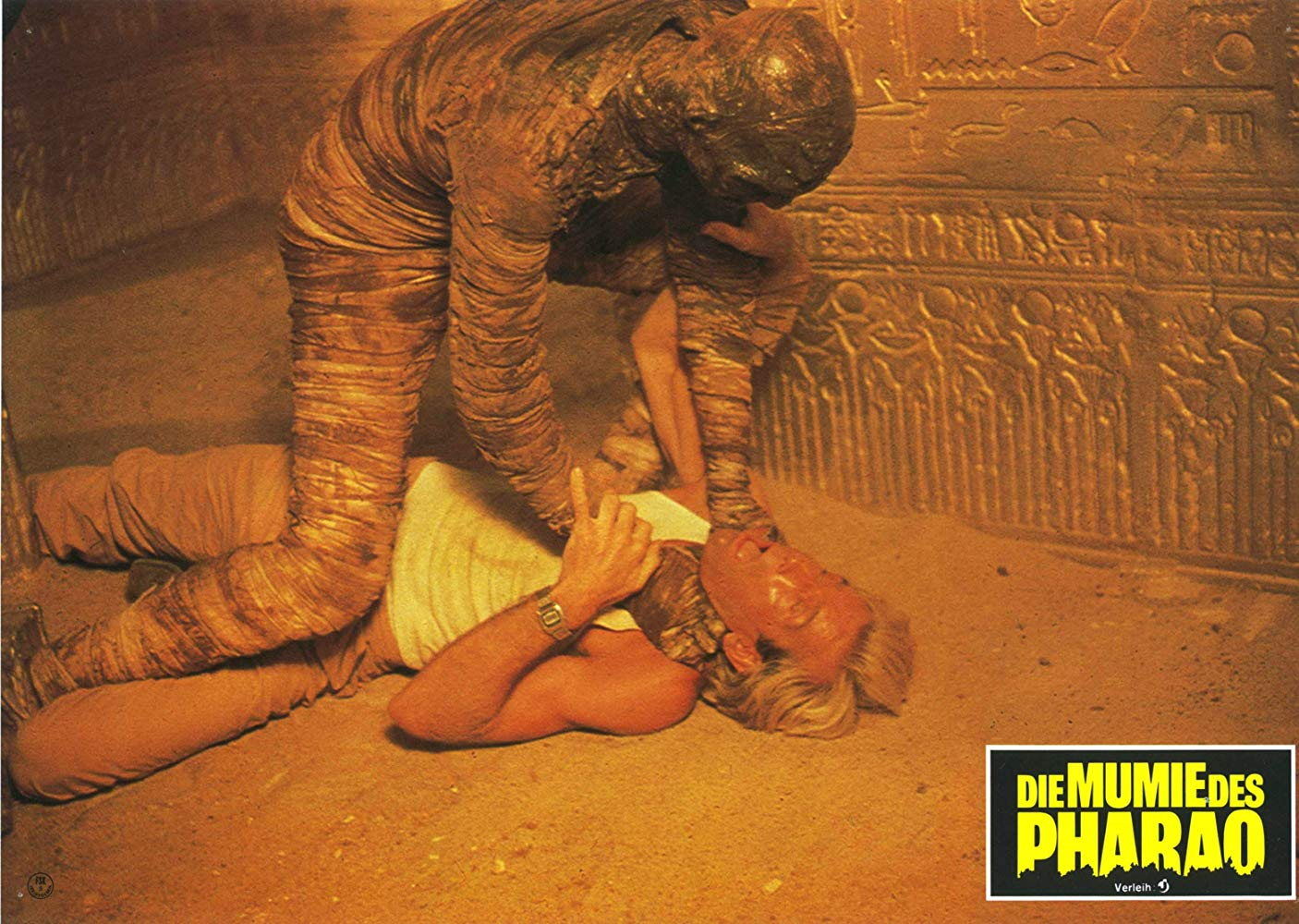Italian mummy zombies on the attack in Dawn of the Mummy (1981)