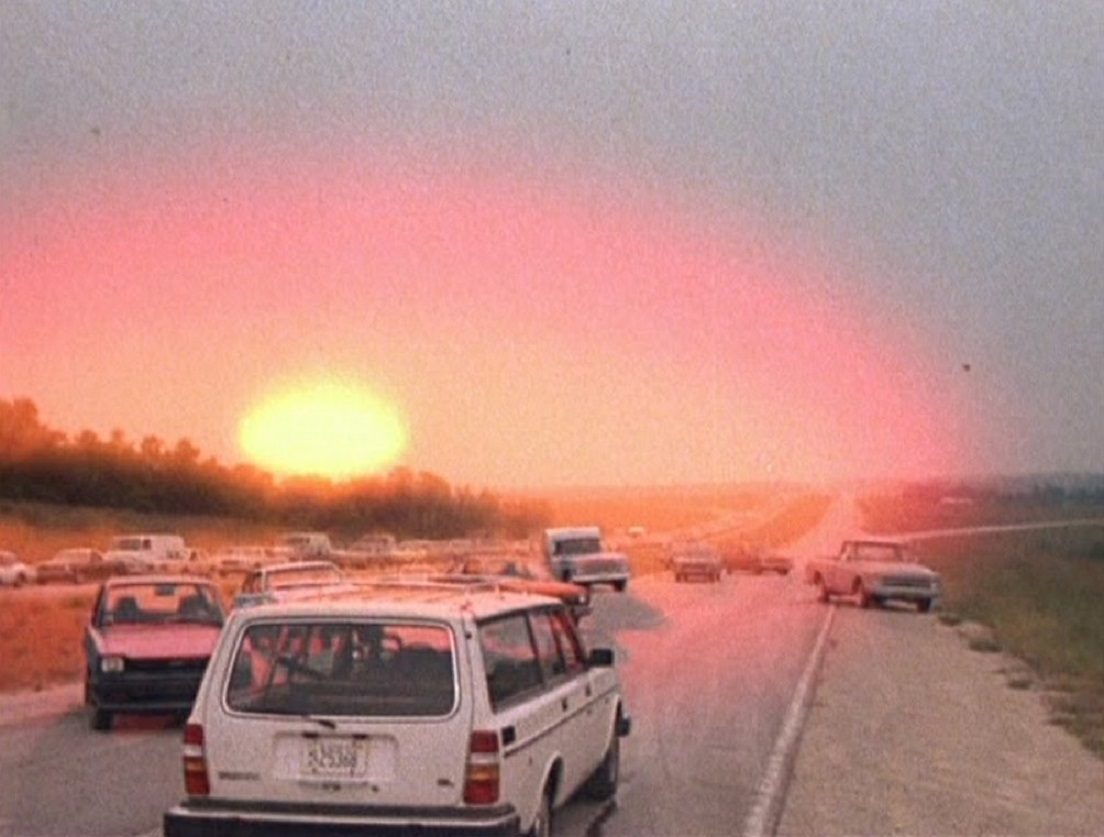 The outbreak of nuclear war in The Day After (1983)