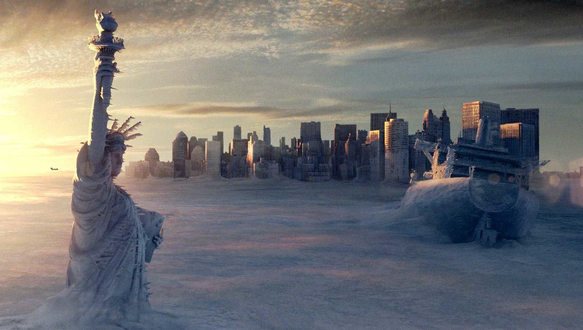 New York City in the midst of a new Ice Age in The Day After Tomorrow (2004)