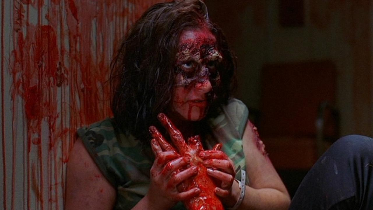 Gore-drenched zombies in Day of the Dead 2: Contagium (2005)