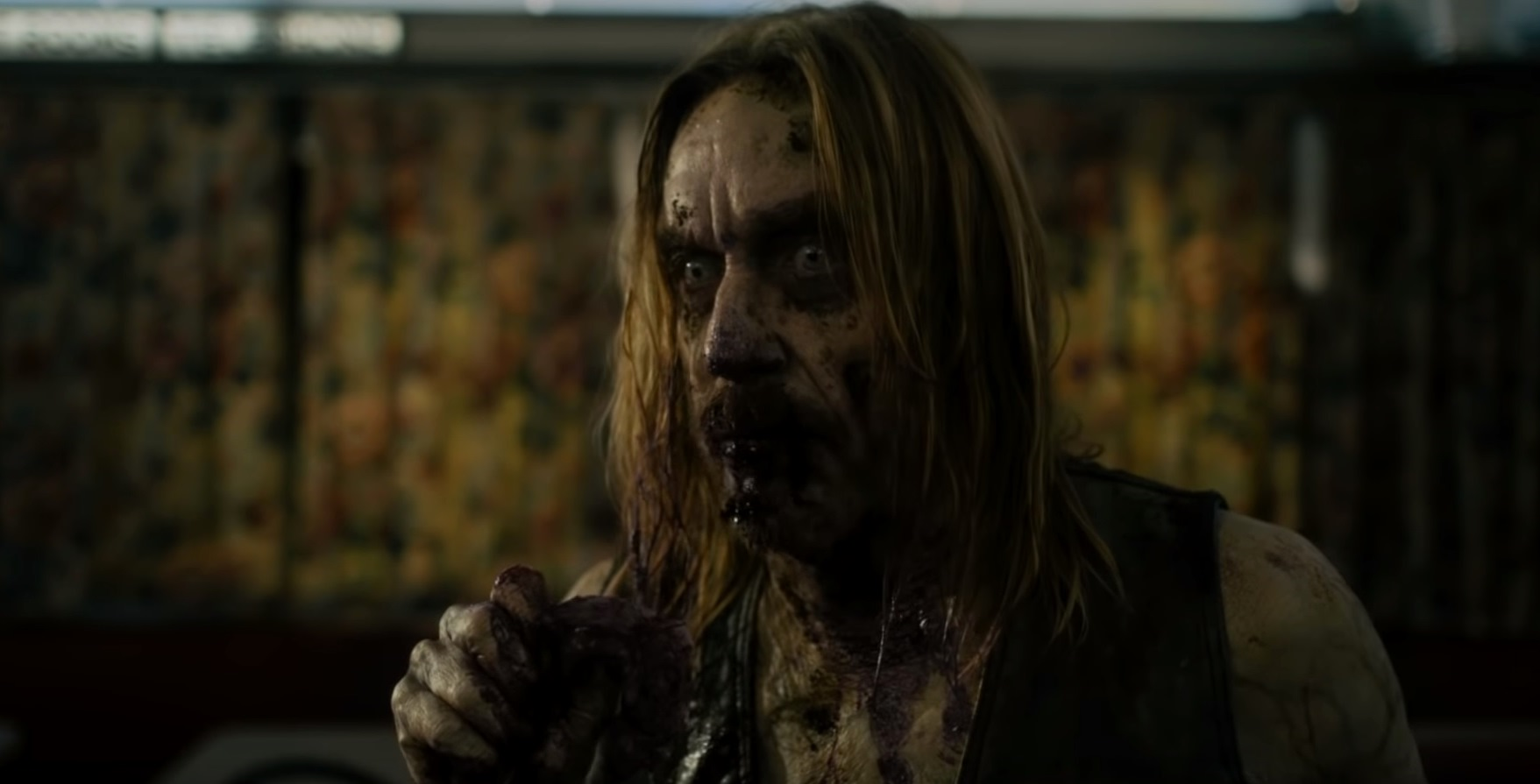 Iggy Pop as a coffee-drinking zombie in The Dead Don't Die (2019)