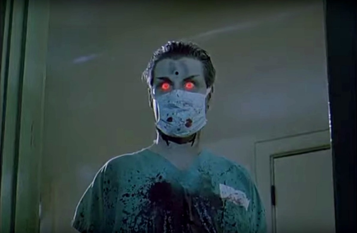 The resurrected Dr Meyers (Steffen Gregory Foster) in The Dead Pit (1989)