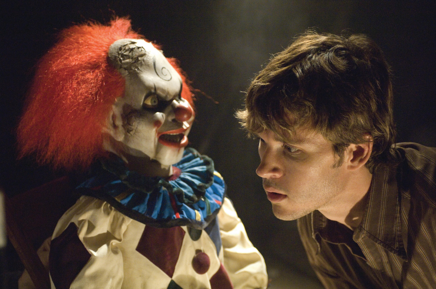 Ryan Kwanten encounters creepy clown doll in Dead Silence (2007)