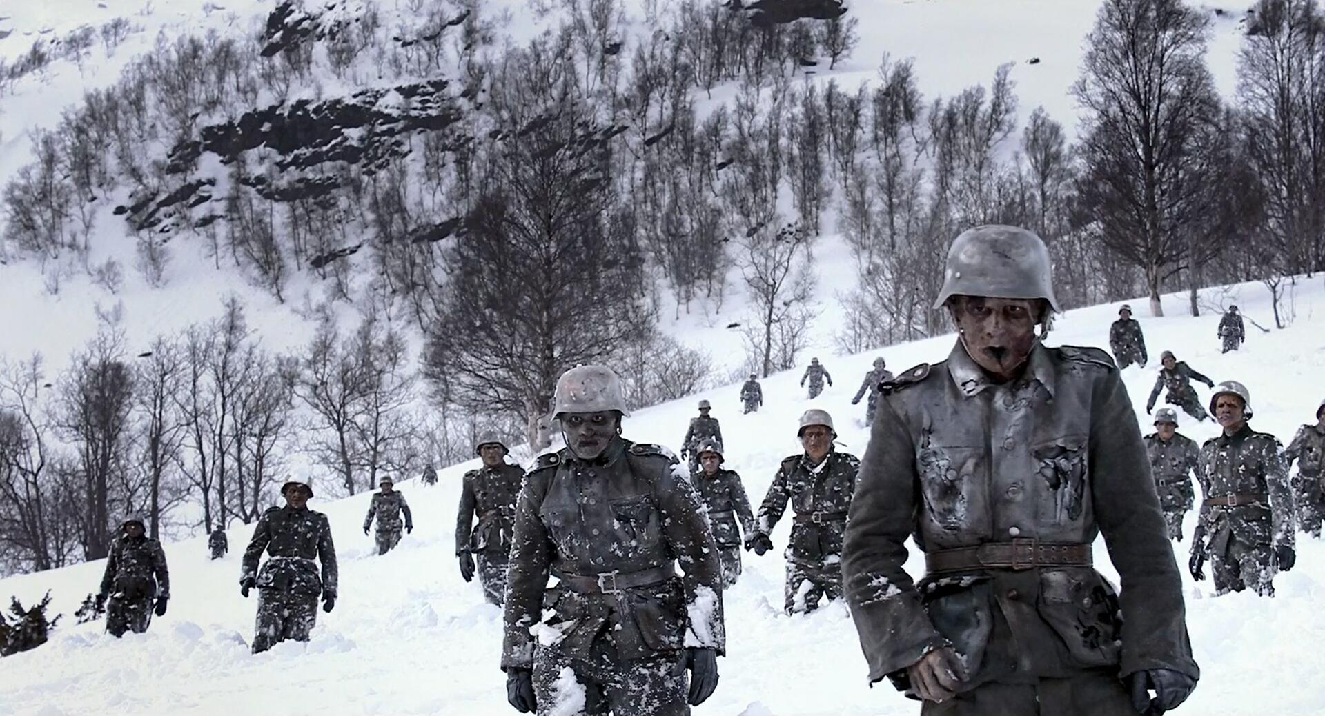 Zombie stormtroopers on the march in Dead Snow (2009)