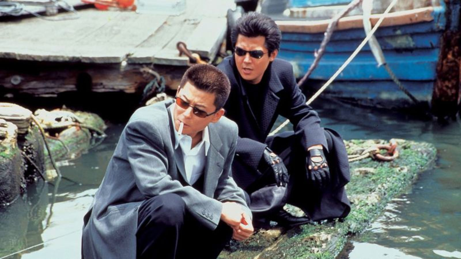 (l to r) Sho Aikawa and Riki Takechi in Dead or Alive (1999)
