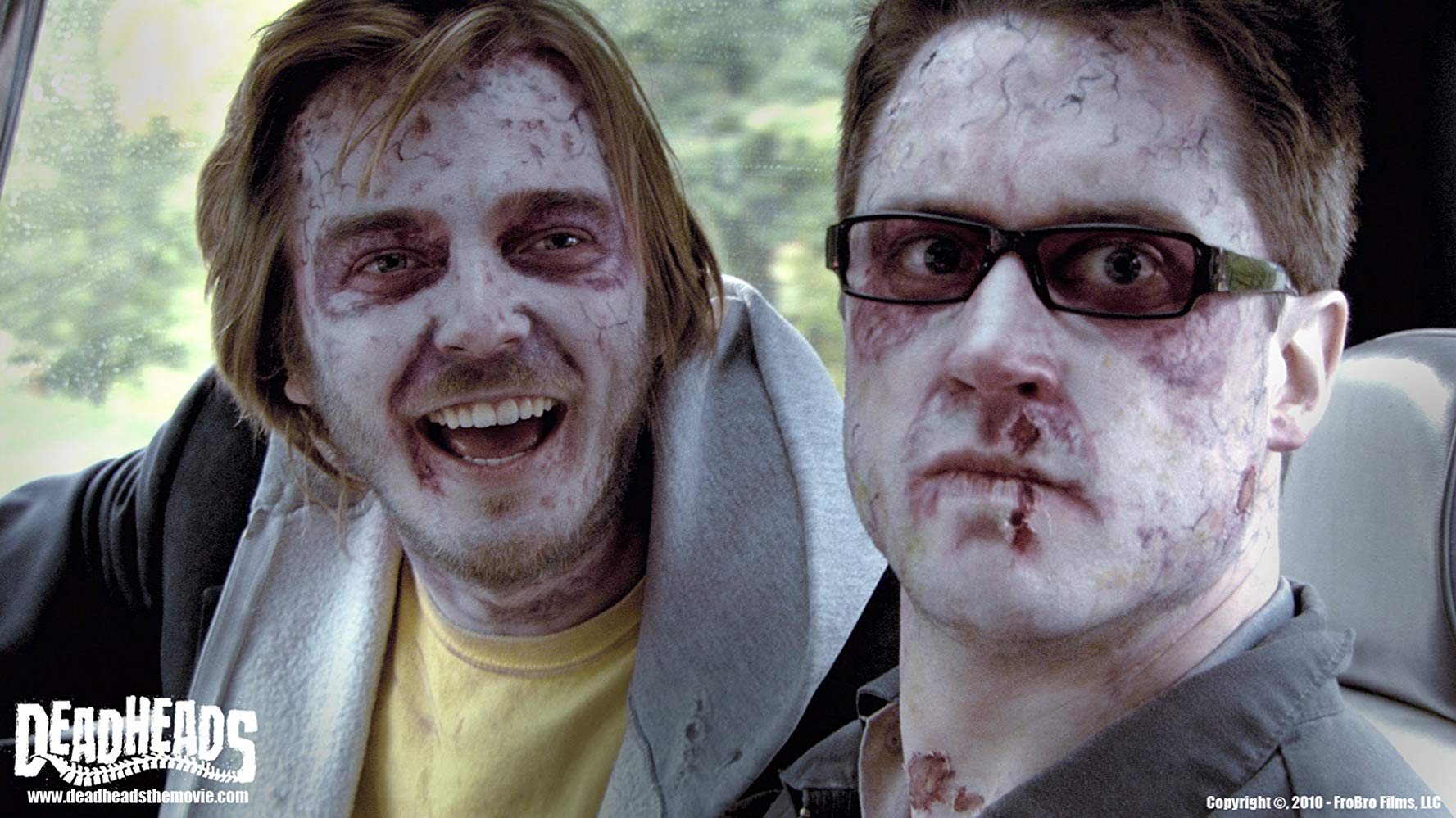 Bromance between two best zombie friends - (l to r) Ross Kidder and Michael McKiddy in Deadheads (2011)