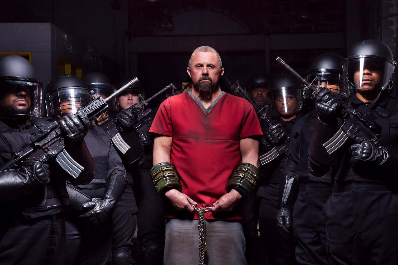 Alois Seig (Kane Hodder), leader of the escaped killers in Death House (2017)