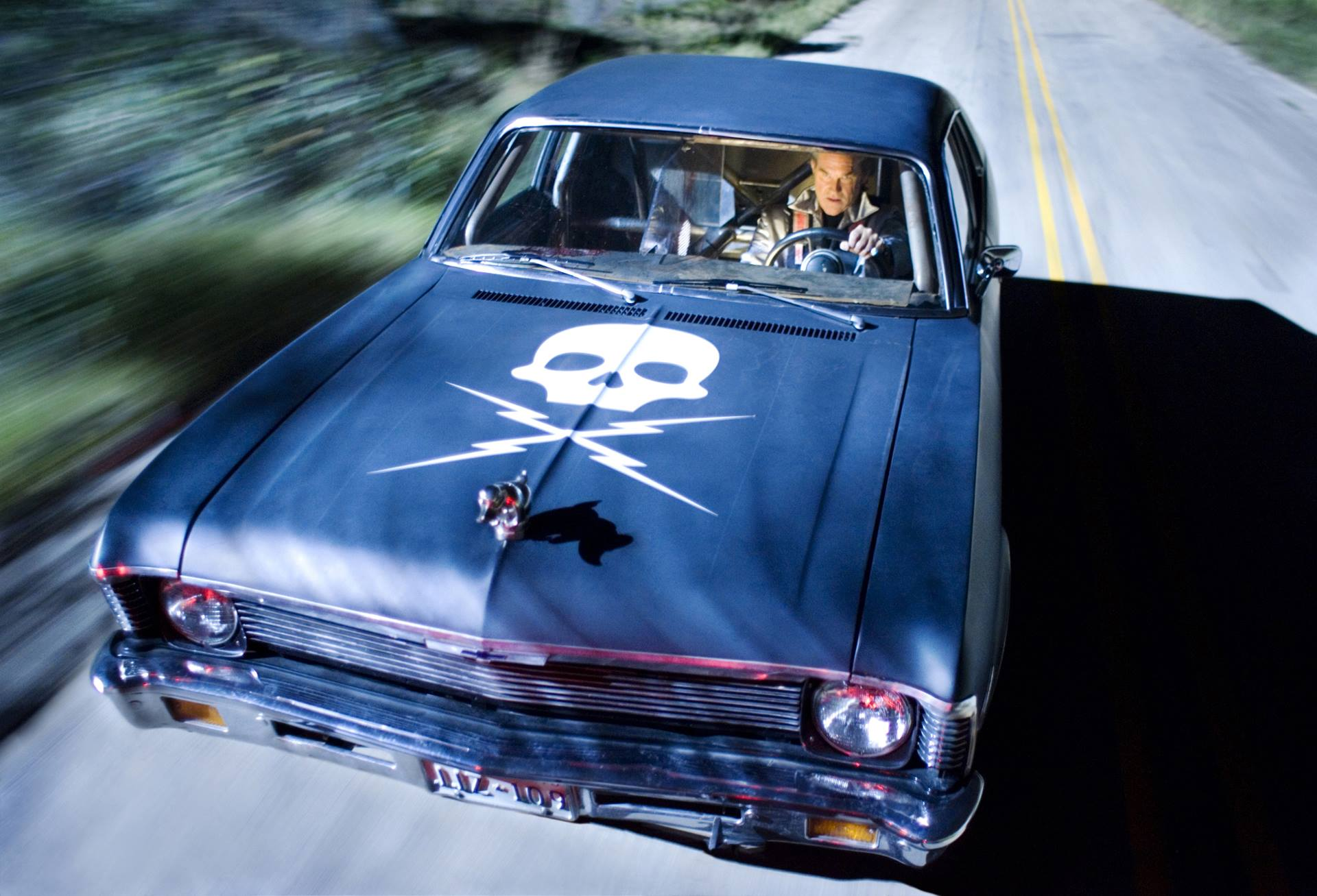 Stuntman Mike (Kurt Russell) in his 'death proof' car