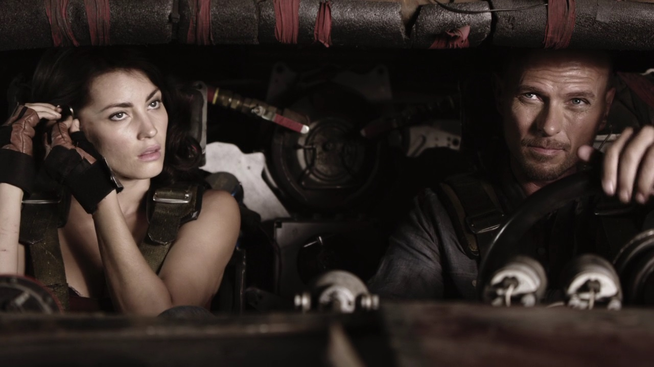 Luke Goss and navigator Tanit Phoenix enter the Death Race