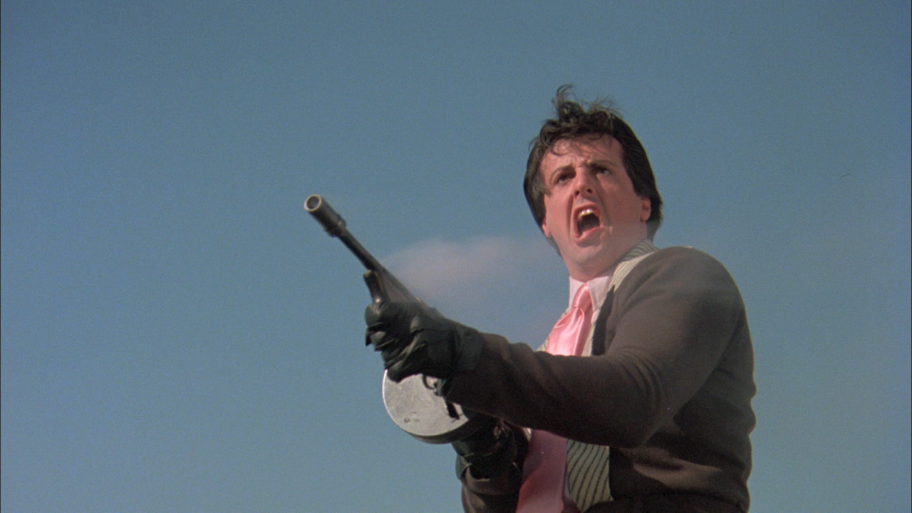 A young unknown Sylvester Stallone a Machine Gun Joe Viterbo in Death Race 2000 (1975)