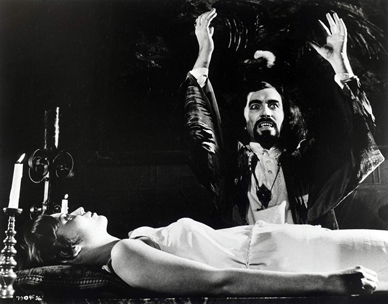 Khorda (Robert Quarry) and Brenda Dickson in Deathmaster (1972)