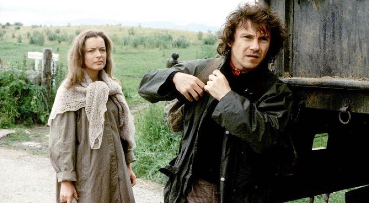 Katherine Mortenhoe (Romy Schneider) and Roddy (Harvey Keitel) in Deathwatch (1980)