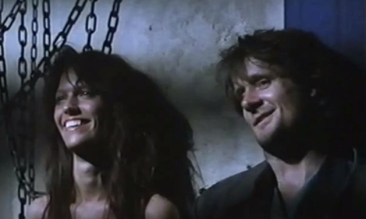 Abductee Samantha Phillips and her possibly alien kidnapper Norbert Weisser in Deceit (1989)