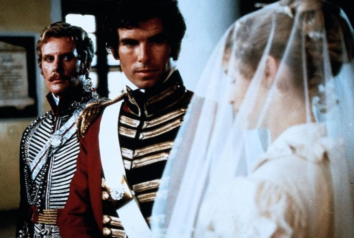 Pierce Brosnan marries Helene Michell with David Robb as best man The Deceivers (1988)
