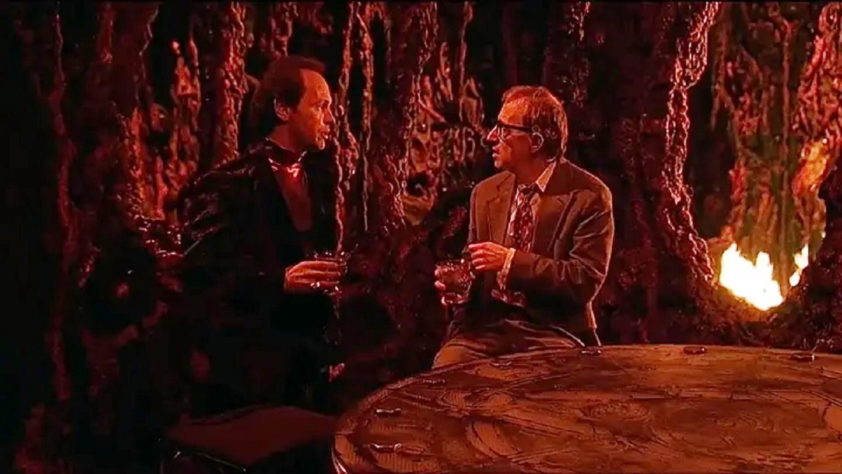 Woody Allen encounters The Devil (Billy Crystal) in Hell in Deconstructing Harry (1997)