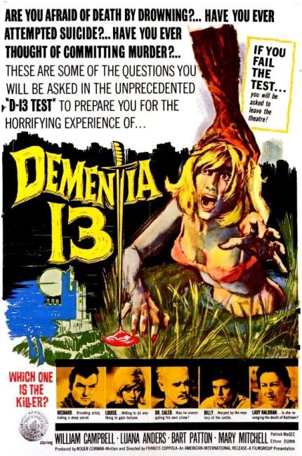 Dementia 13 (1963) poster