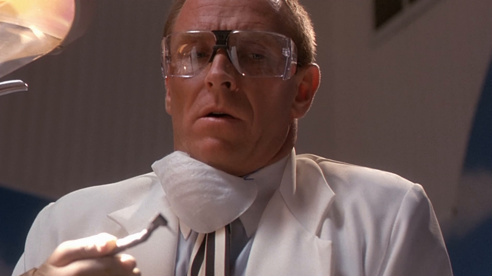 Corbin Bernsen as the psychopathic Dr Feinstone in The Dentist (1996)
