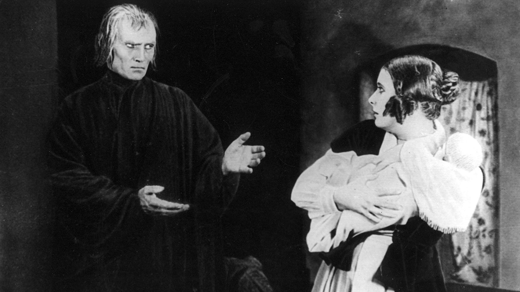Death (Bernhard Goetzke) appears to Lil Dagover in Destiny (1921)